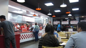5 Guys Burgers and Fries - Inside