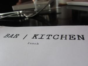 Bar + Kitchen