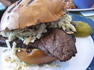 Baby Blues BBQ - Tri Tip Sandwich