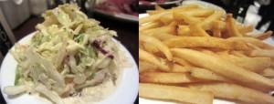 Carnegie Deli - Slaw and Fries