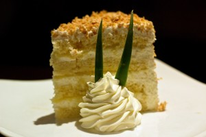 Tommy Bahama's Island Grille - Pina Colada Cake