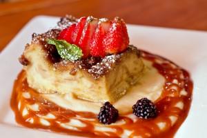 LA Rose Cafe - Bread Pudding