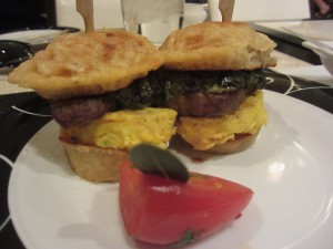 Society Cafe - Steak and Egg Sliders