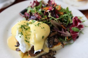 Little Next Door - Wild Mushroom Eggs Benedict