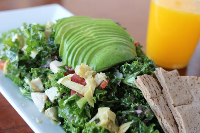 Green Peas Avo Kale Salad Gives Me Peace Dinedelish