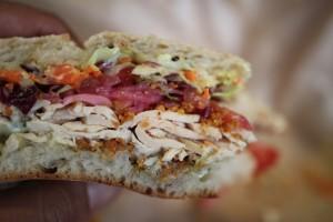 Mendocino Farms Fairfax - Chicken Sandwich Inside