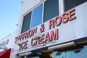 Saffron and Rose Ice Cream